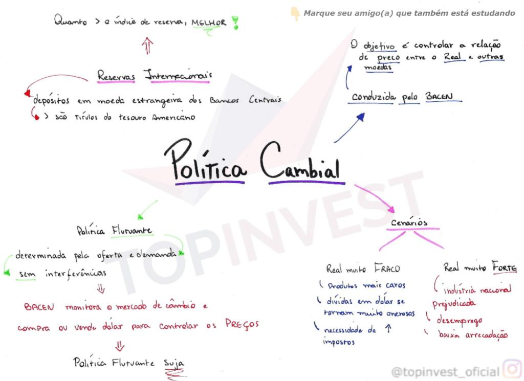 Mapa mental Política Cambial, Organograma Política Cambial